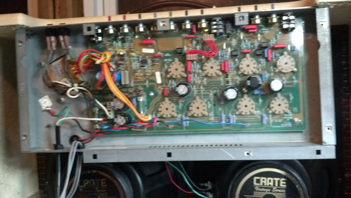 Crate Vintage Club 50 Amp Repair | The Unbroken String on ar-15 schematic, crate vintage club 30 drawing, dumble schematic, carvin x100b schematic, alembic tube preamp schematic, el84 guitar amp schematic, orange rockerverb schematic,